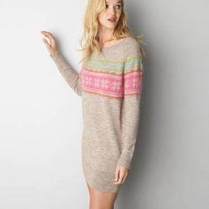 American Eagle fair isle sweater dress